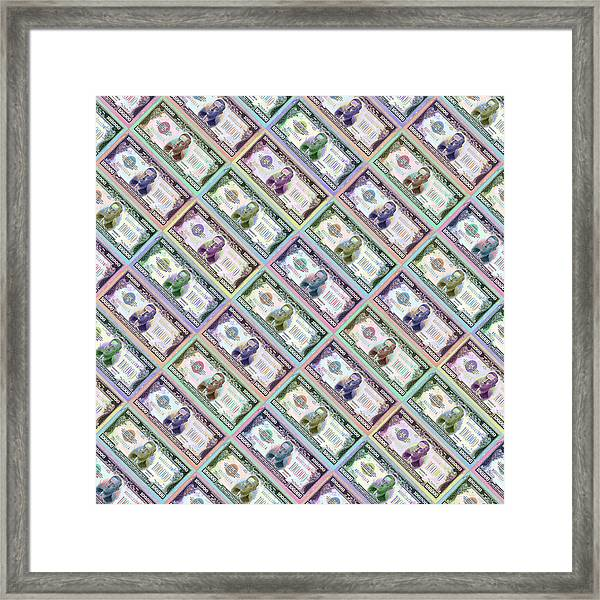 240 Million Dollars Slanted Framed Print