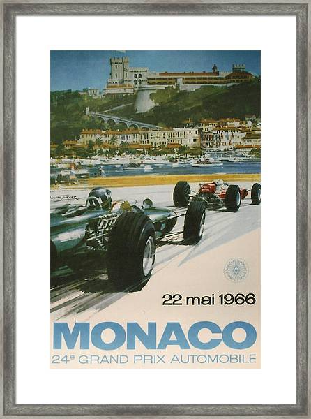 24th Monaco Grand Prix 1966 Framed Print