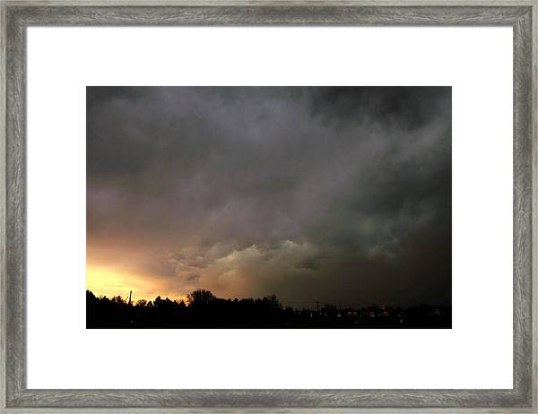Framed Print featuring the photograph Let The Storm Season Begin by NebraskaSC