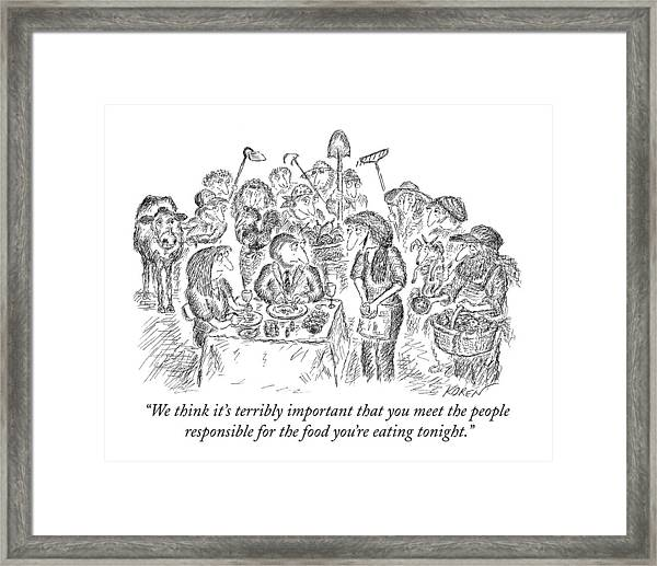 We Think It's Terribly Important That You Meet Framed Print