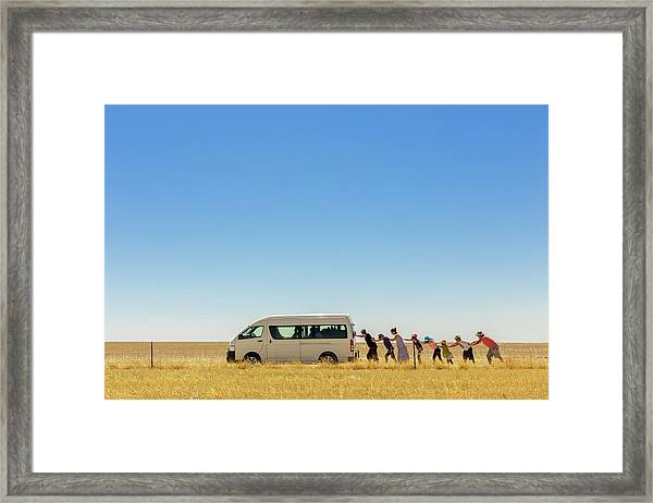 2.500 Km Around Australia Framed Print by Gloria Salgado Gispert