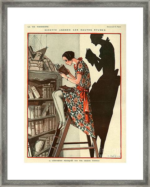 La Vie Parisienne 1924 1920s France Framed Print