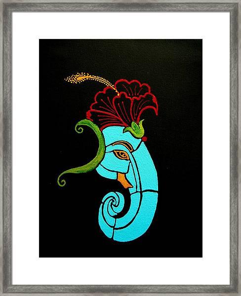 26 Uddana Ganesh Framed Print
