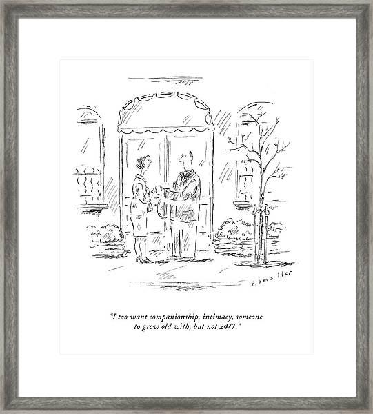 I Too Want Companionship Framed Print