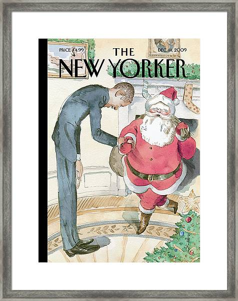 New Yorker December 14th, 2009 Framed Print