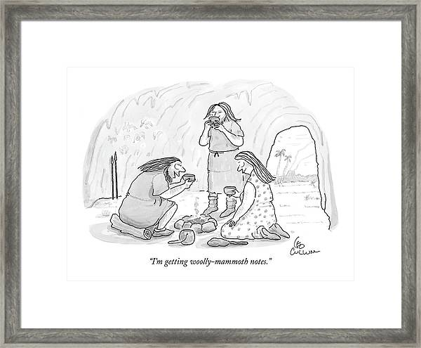 I'm Getting Woolly-mammoth Notes Framed Print