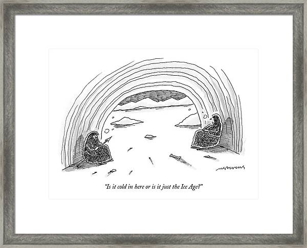 Is It Cold In Here Or Is It Just The Ice Age? Framed Print