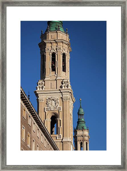 Spain, Aragon Region, Zaragoza Framed Print