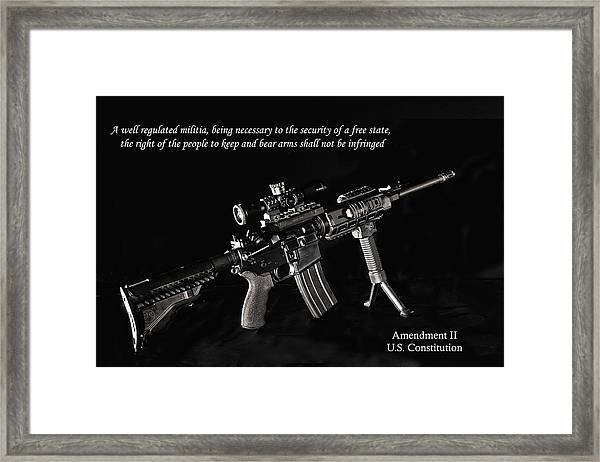 2nd Amendment Framed Print