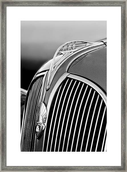 1937 Plymouth Hood Ornament Framed Print