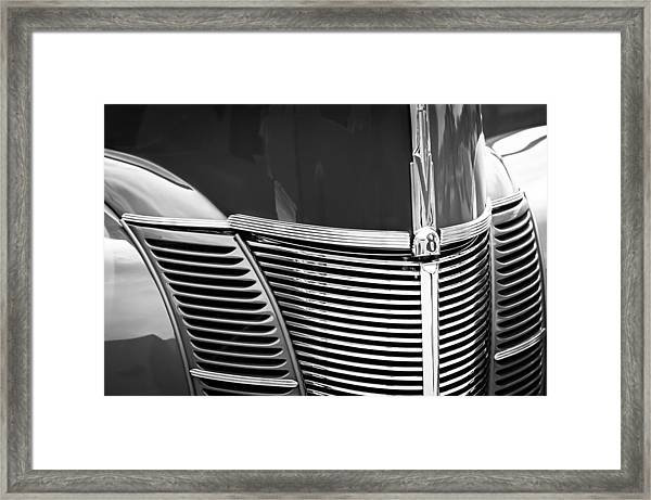 1940 Ford Deluxe Coupe Grille Framed Print