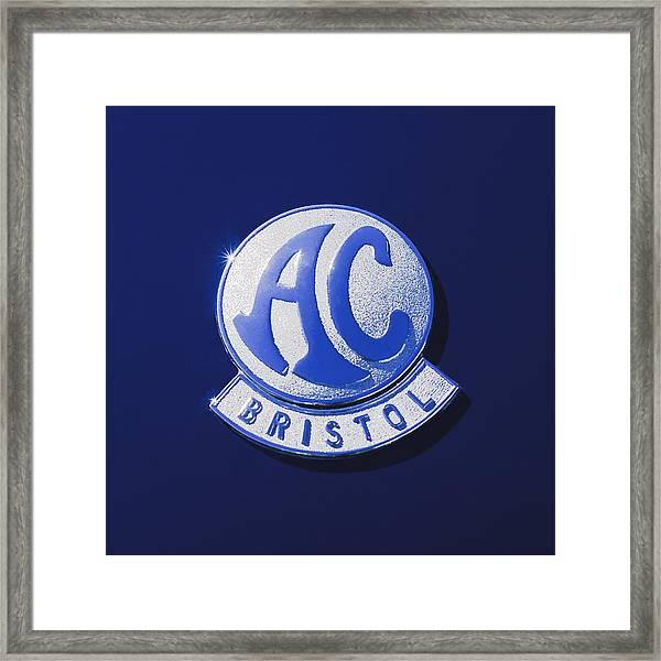 1959  Ac Ace Bristol Grille Emblem Framed Print