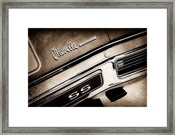 acc41d93 1970 Chevrolet Chevelle Ss Taillight Emblem Framed Print