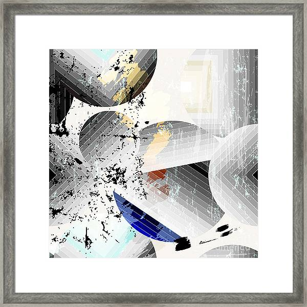Abstract Geometric Pattern Background Framed Print