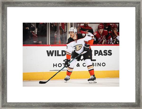 Anaheim Ducks V Arizona Coyotes Framed Print by Christian Petersen