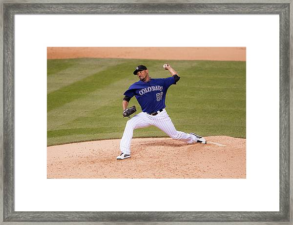 Arizona Diamondbacks V Colorado Rockies Framed Print