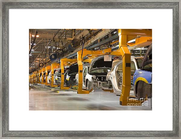 Assembly Line Framed Print