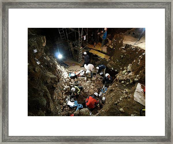 Atapuerca Fossil Excavation Framed Print