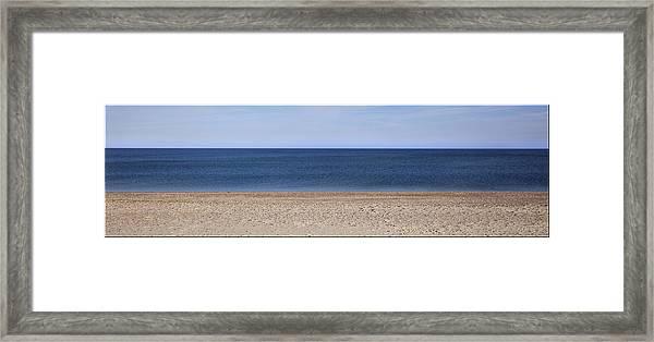Color Bars Beach Scene Framed Print
