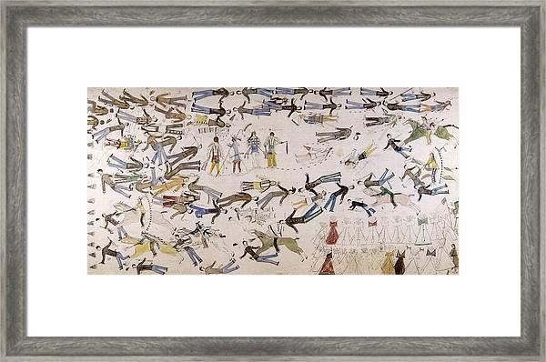 Battle Of Little Bighorn Framed Print