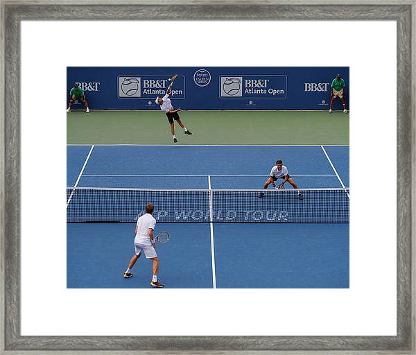 Bb&t Atlanta Open - Day 7 Framed Print by Kevin C. Cox