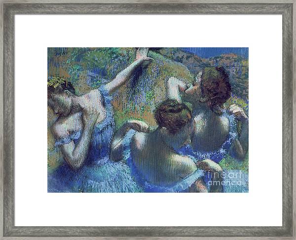 Blue Dancers Framed Print