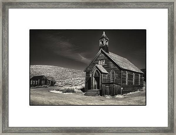 Bodie Church Framed Print by Robert Fawcett