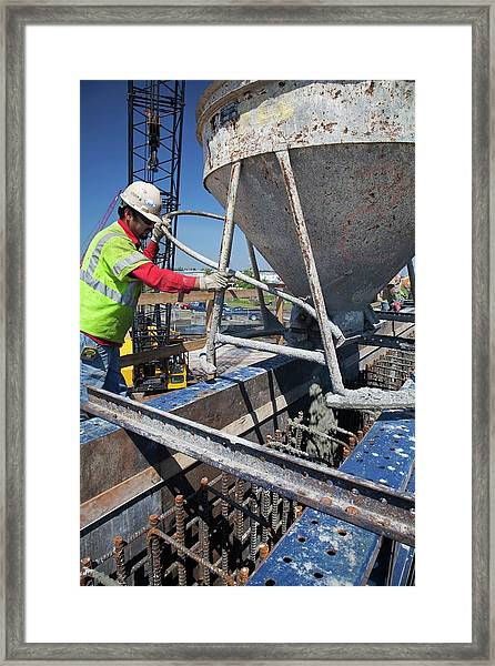 Building Flood Wall Framed Print