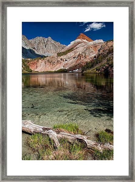 Bull Lake And Chocolate Peak Framed Print
