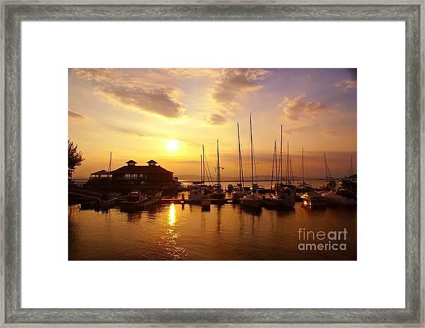 Burlington Boat House.  Framed Print