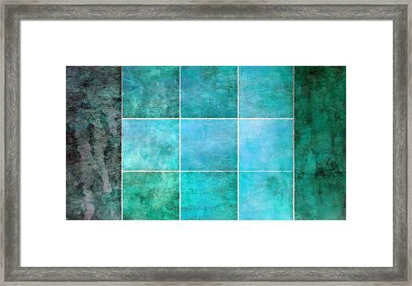 3 By 3 Ocean Framed Print