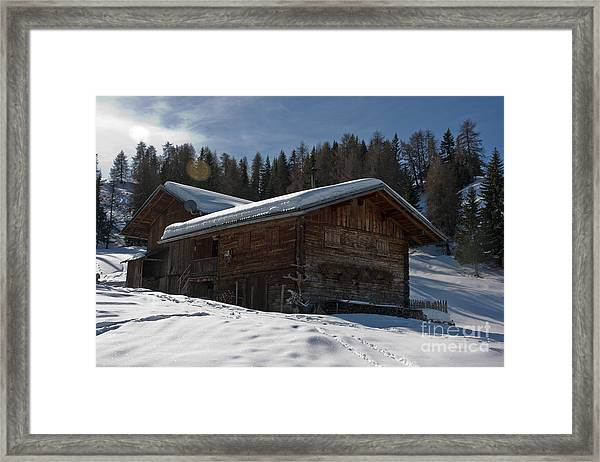 Chalet's Mountain Framed Print by Pier Giorgio Mariani