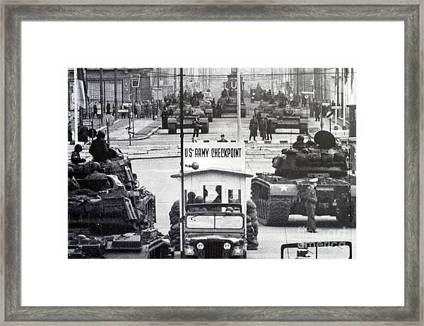 Checkpoint Charlie Framed Print
