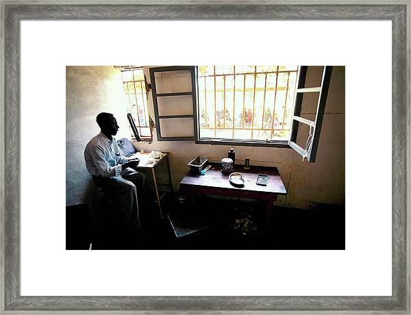 Congo Hospital Framed Print