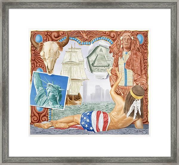 Destruction Of Native America Framed Print