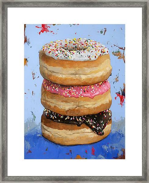 3 Donuts #2 Framed Print