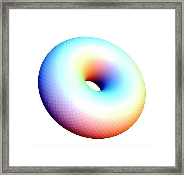 Doubly Hopf Fibred Tori Framed Print