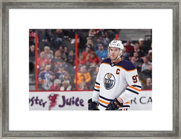Edmonton Oilers V Ottawa Senators Framed Print by Jana Chytilova/Freestyle Photo