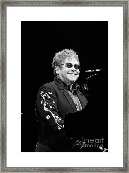 Elton John Framed Print