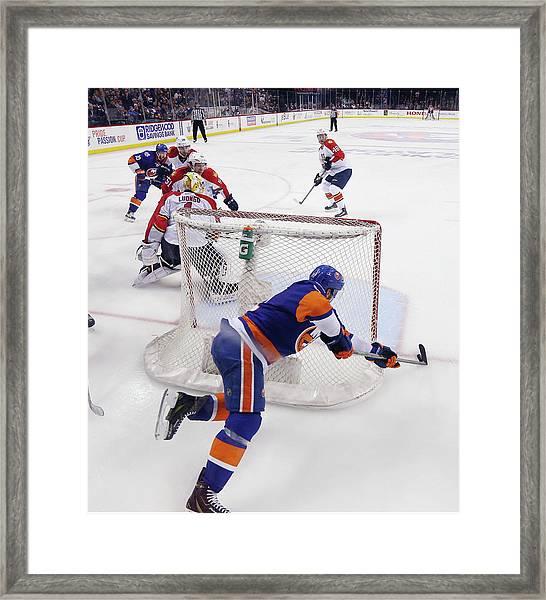Florida Panthers V New York Islanders - Framed Print