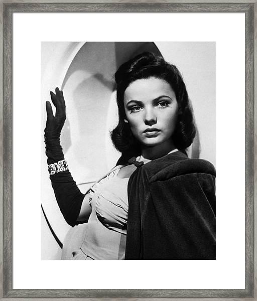 Gene Tierney Framed Print by Silver Screen