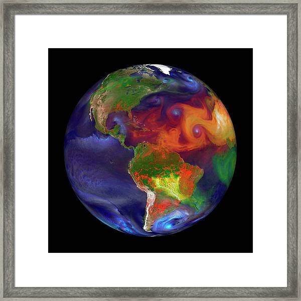 Global Fires Framed Print by William Putman/nasa Goddard Space Flight Center