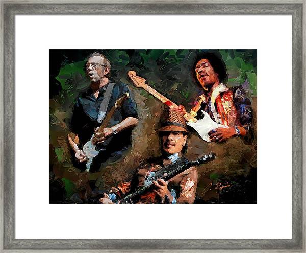 3 Great Artists Framed Print