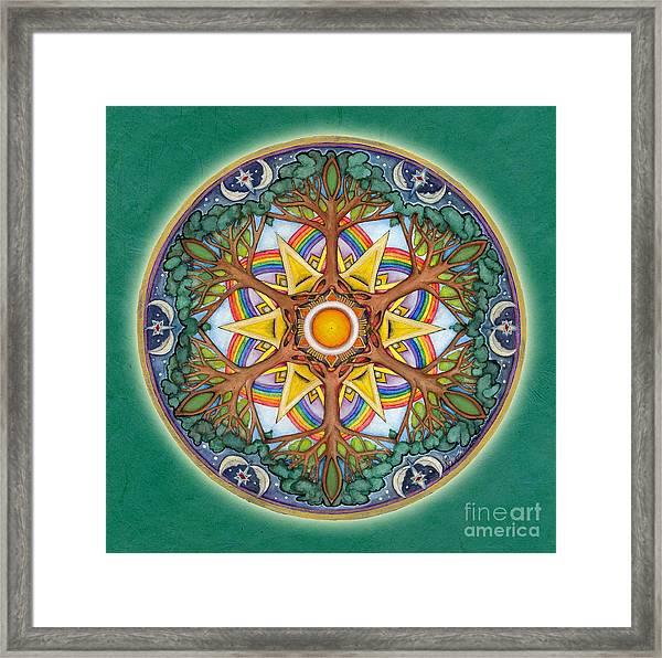Heaven And Earth Mandala Framed Print