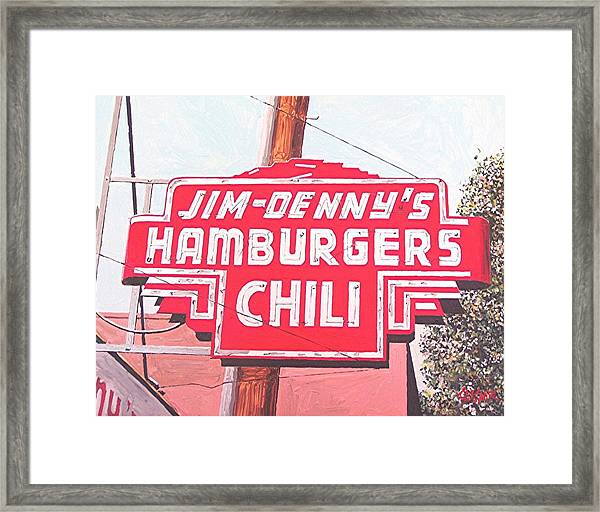 Jim Denny's Framed Print by Paul Guyer
