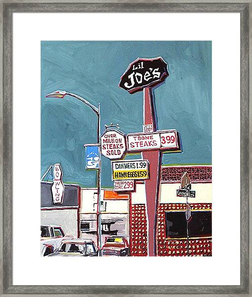 Li'l Joe's Framed Print by Paul Guyer