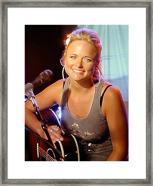 Miranda Lambert Framed Print