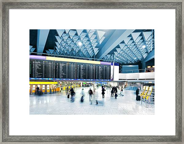 Modern Airport Framed Print by Nikada