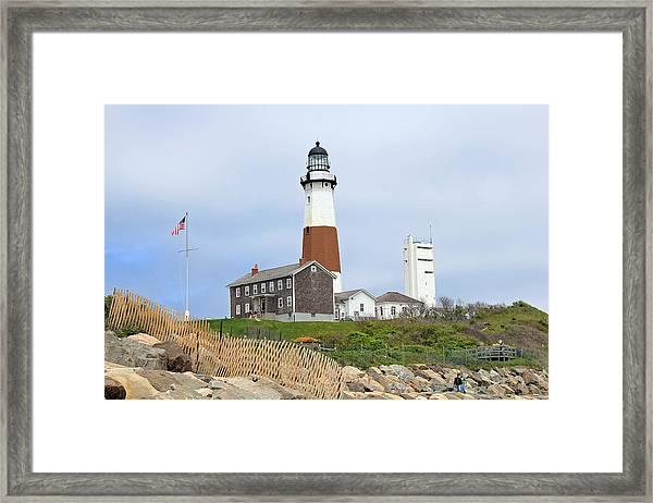 Montauk Lighthouse Long Island New York Framed Print
