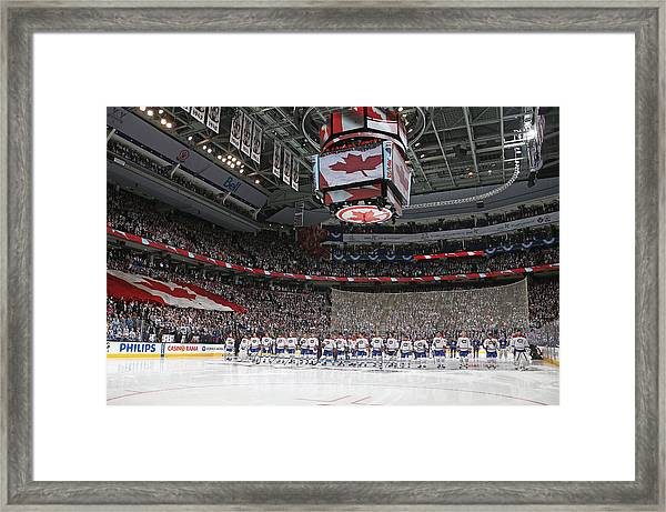 Montreal Canadiens V Toronto Maple Leafs Framed Print by Claus Andersen